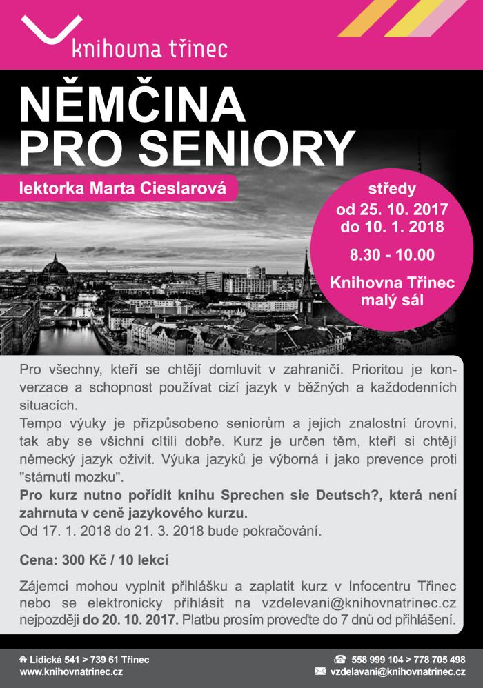 Plakát Němčina pro seniory podzim 2017
