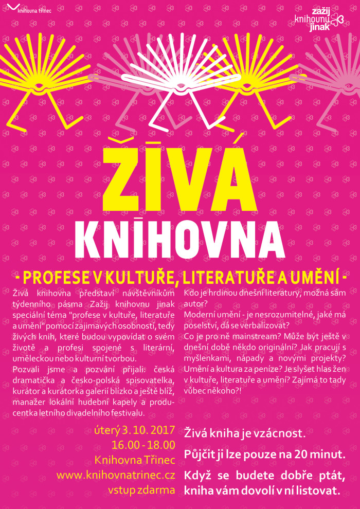 Plakát Zažij živou knihovnu