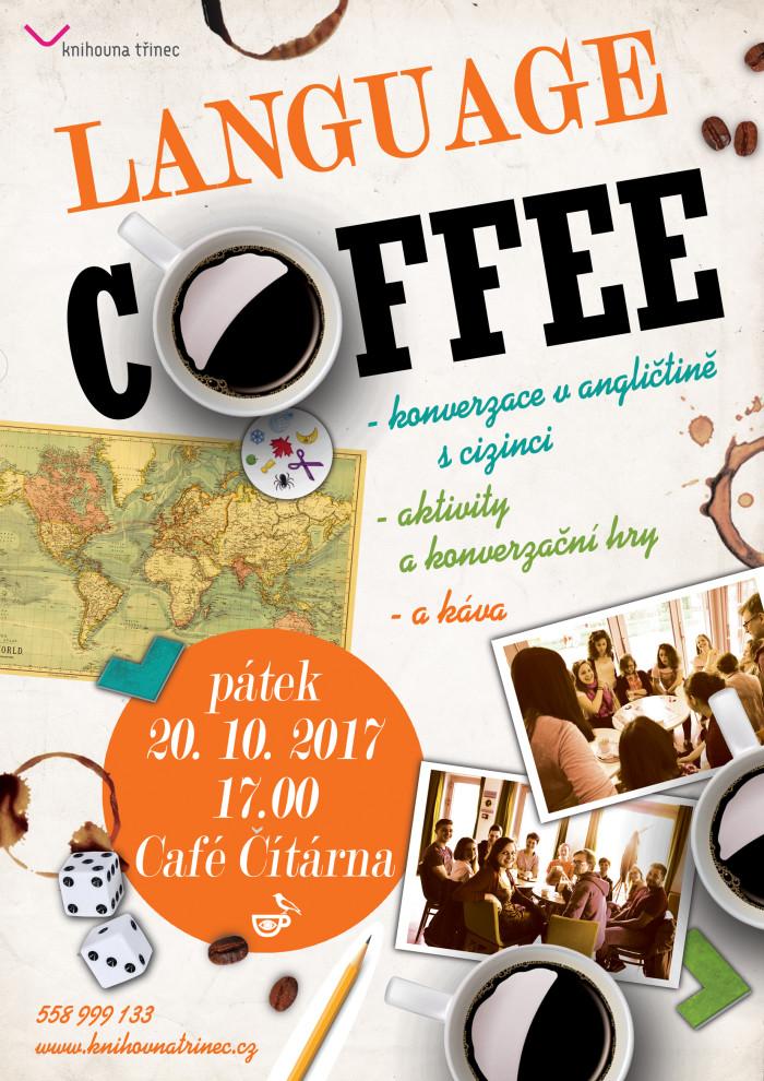 Plakát Language Coffee říjen 2017