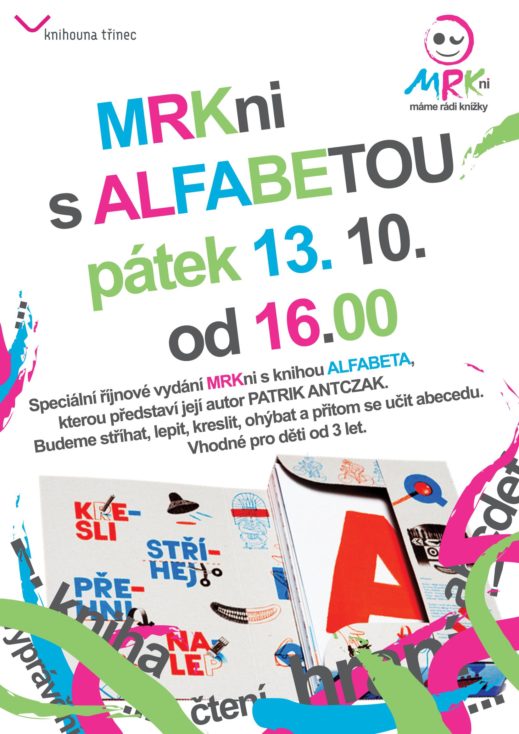 Plakát klub MRKni s alfabetou