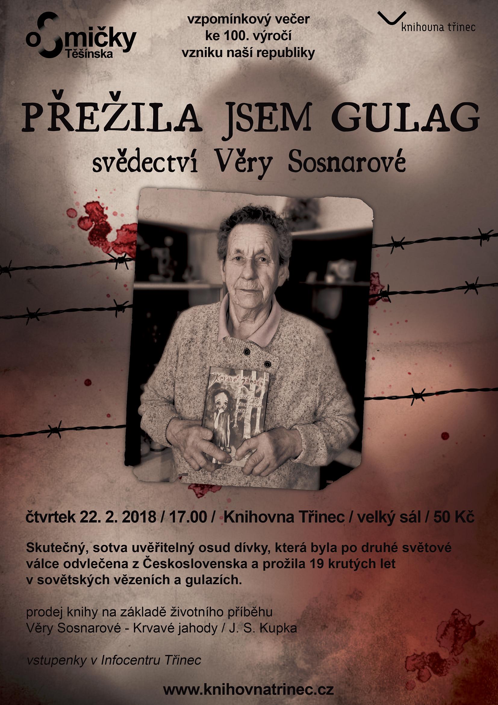 Přednáška Věry Sosnarové Přežila jsem gulag
