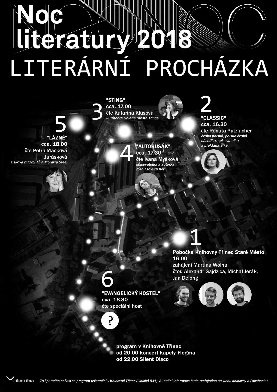 Noc literatury 2018 mapa