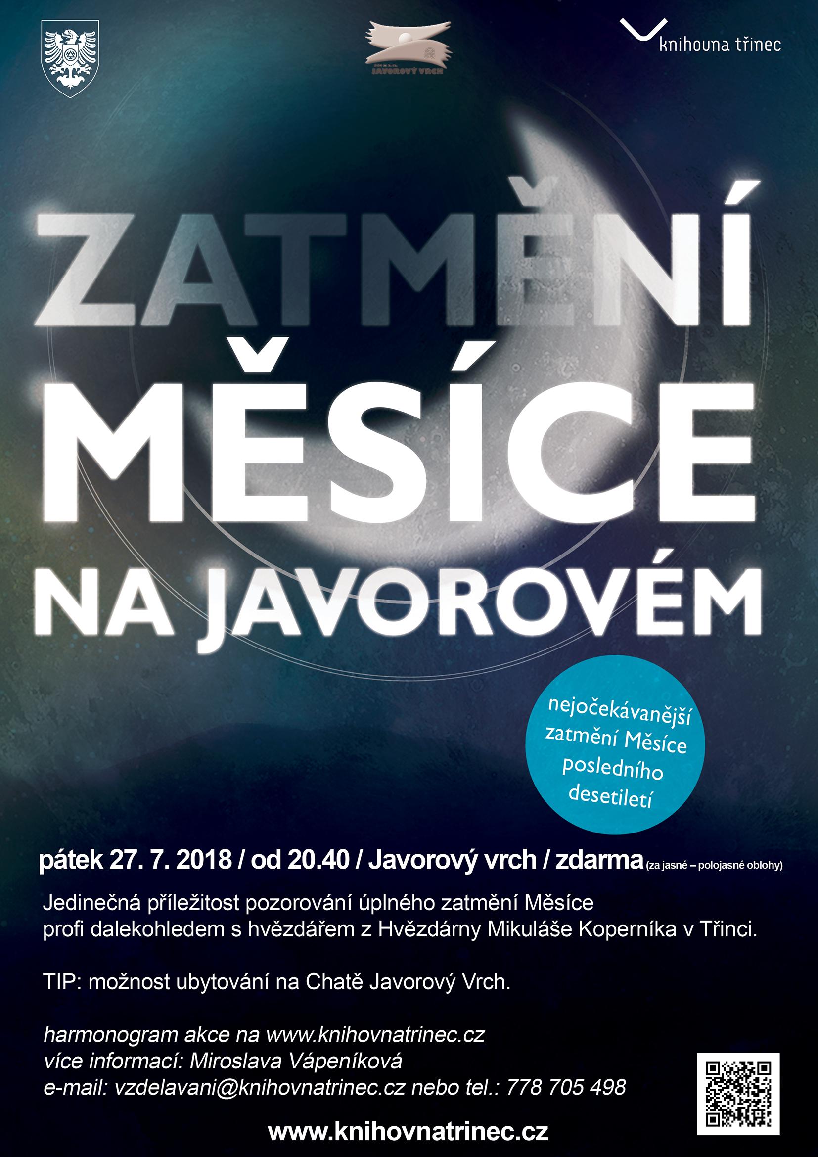 Zatmění měsíce na Javorovém plakát