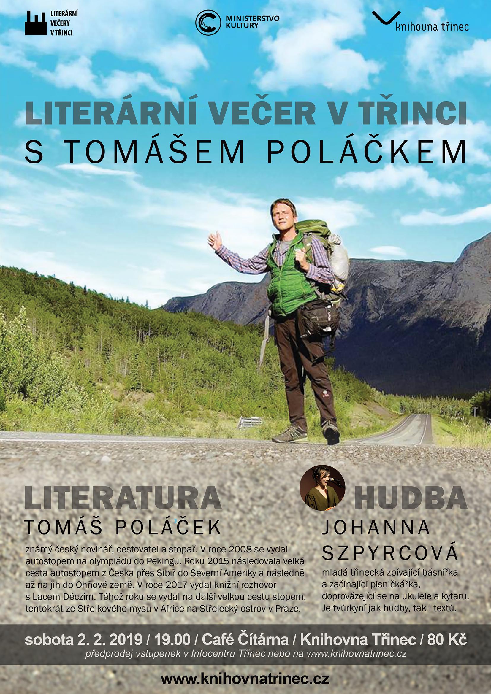 Literární večer Tomáš Poláček WEB