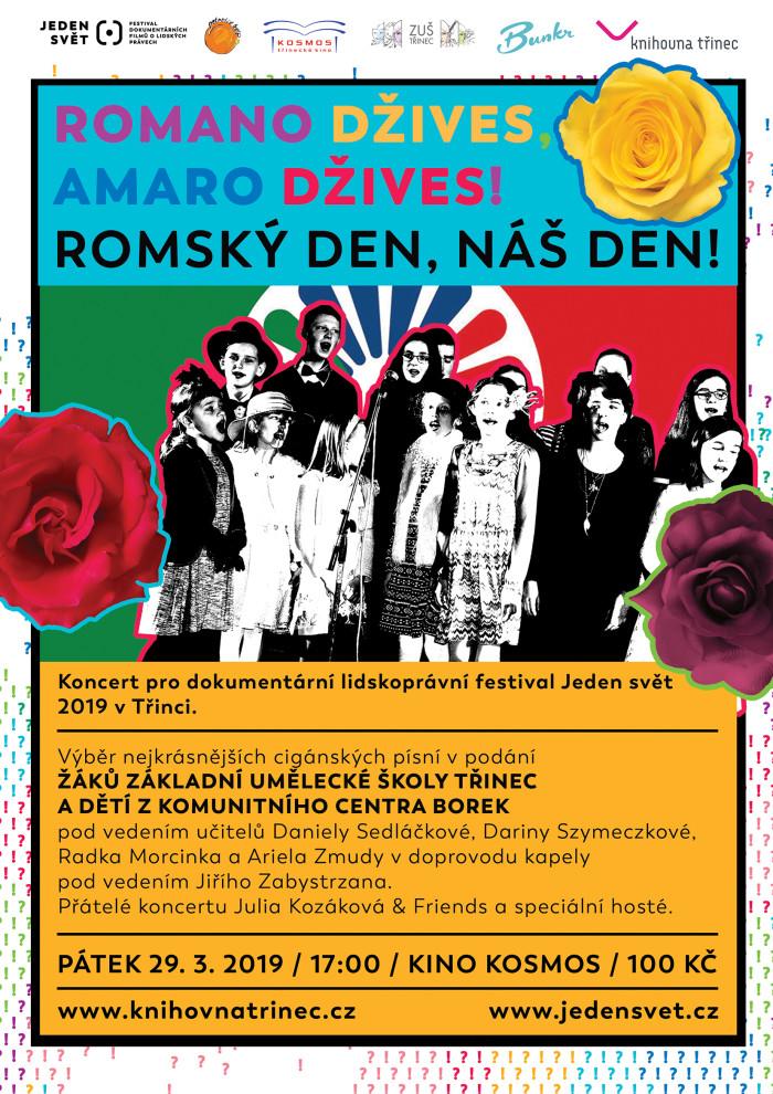 Koncert ZUŠ romano džives, amaro džives! 2019 WEB
