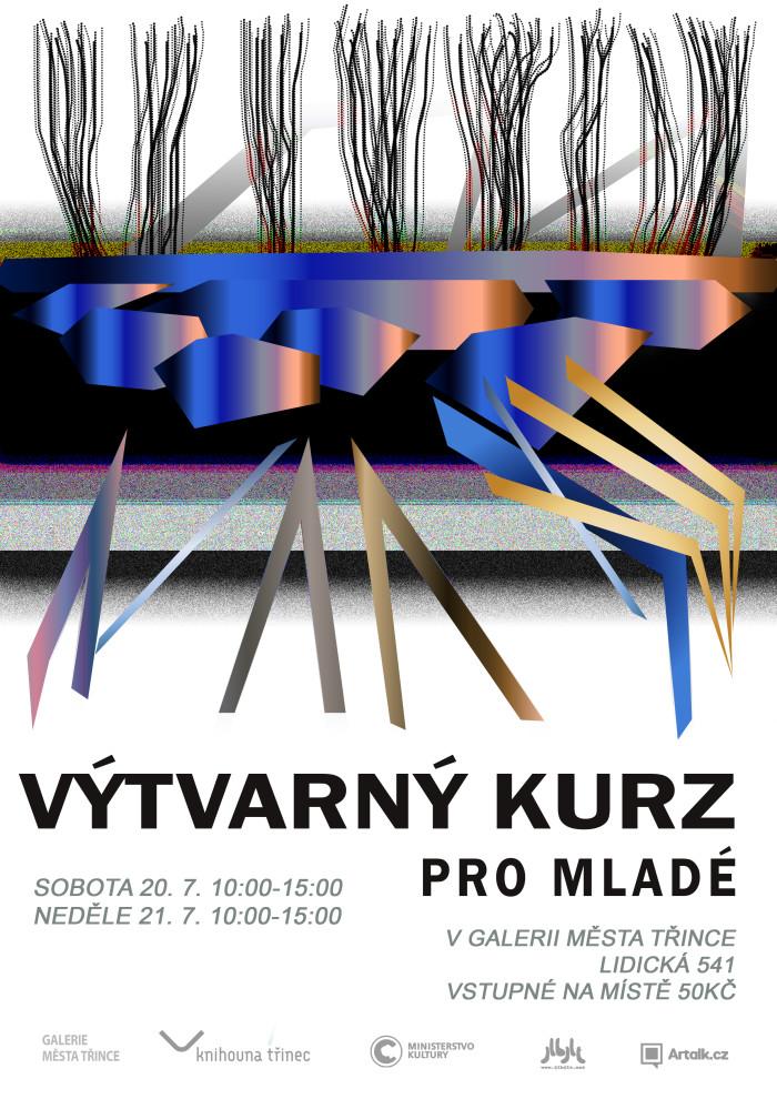 Výtvarný kurz pro mladé Galerie města Třince plakát WEB